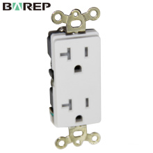 Grounding design switch socket american electric outlet
