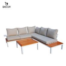 Garden Furniture Sofa Set Furniture Outdoor Furniture for Texilen Aluminium PS Wood Use Modern 1 Set/2ctns 3 Years Relax N/A
