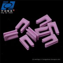 Pièces en céramique d'alumine en céramique rose de type u