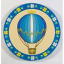 Coaster do PVC macio feito sob encomenda da forma redonda (Coaster-27)