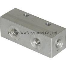 Hydraulic Manifold, 3.5 in Long by CNC Machining