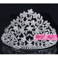 hot sale wholesale costume rhinestone alloy pageant tiara