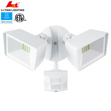 ETL Listed IP65 20W LED Outdoor Security Flood Light with motion sensor