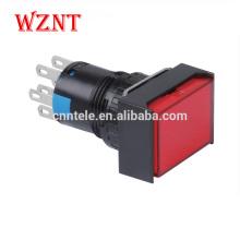 водостойкий IP40 прямоугольный кнопочный микропереключатель с подсветкой