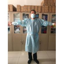 pp+pe non-woven fabric disposable isolation gown