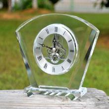 K9 cristal horloge en verre pour la décoration de la maison