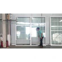Ventana corredera de una sola ventana corredera con rotura de aluminio y color blanco.