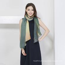 Lenço de seda feminino, lenço de impressão digital