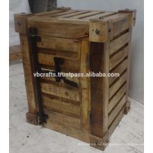 Armario de madera de estilo de contenedor Mango de madera