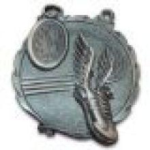 Medalha 3D personalizada com acabamento em níquel antigo