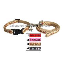 Leopard Hundeleine mit Halsbändern