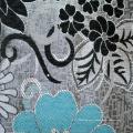 Tissu d'ameublement de Chenille rose de Palestine (fth31895)