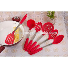 Factory Supplier LFGB Standard Silicone Heat Resistant Durable Silicone For 6pcs Set Kitchen Utensil Set