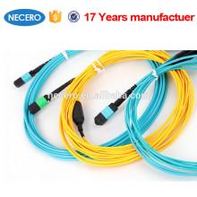 Conjuntos de cabo 8f do único modo MTP, 12f, cabo do cabo de remendo da fibra do 24f