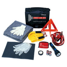 car emergency kit, contain items for vehicle emergencies and physical injuries.