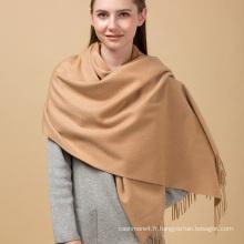 2017 femmes top qualité moelleux moelleux lumière beige 100% cachemire tricoté écharpe
