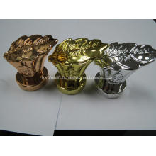 bouchon de bouteille métallisation de placage