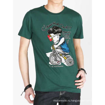 Пользовательские смешные коробки мода печатных мужская рубашка хлопок T