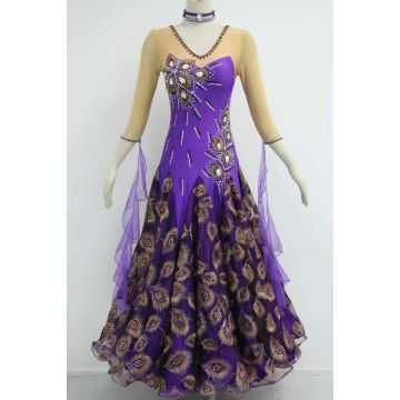 Purple Ballroom Dress Plus Storlek