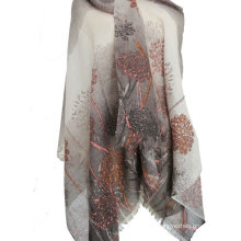 50% cashmere 50% silk worsted ombre shawl