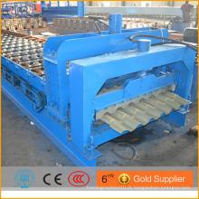 Passo rolo de telha formando máquina / materiais de construção bobina de alumínio fazendo máquina