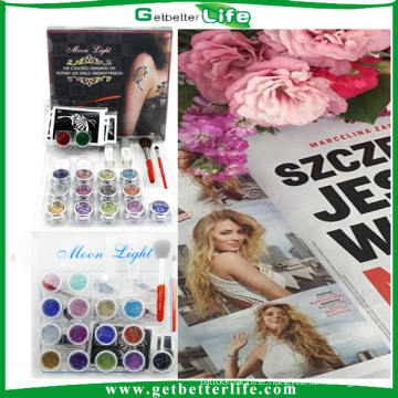 2015 getbetterlife15 Colors 20 pcs Tattoo Stencil temporary tattoo kit/glitter tattoo kit/glitter tattoo ink