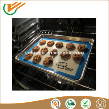 2015 hot selling FDA Certificate 100% fiberglass coated silicone custom size silicon baking mat