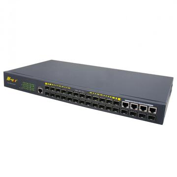 24 SFP-portar hanterade Ethernet-switchar