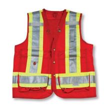 Rote 100% Polyester Feldmesser Weste