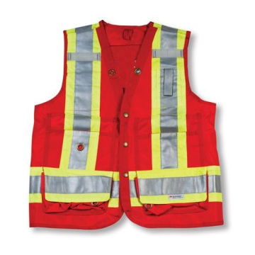 Red 100% Polyester Surveyor Vest