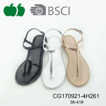 Beautiful Ladies Pvc Jelly Flat Summer Sandals