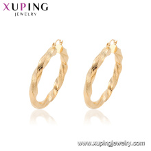 95107 Xuping Jewelry Fashion Gold Plated Hoop Earrings With African Style
