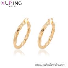 Brincos chapeados ouro da aro da forma da jóia de 95107 Xuping com estilo africano