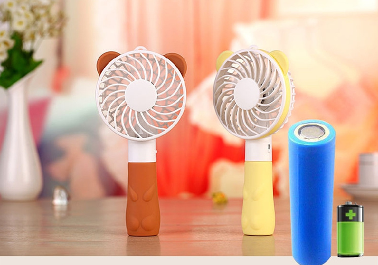 yellow portable mini fan