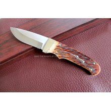 Couteau fixe à poignée osseuse de bœuf (SE-S090)