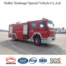 10ton Sinotruk HOWO Type de réservoir d'eau Fire Engine Truck Euro 4