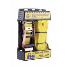 """Caja de presentación Embalaje 50MM 2 """"10 'de largo Poliéster amarillo Cuerda de bloqueo de amarre de trinquete"""