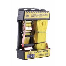 """Display Box Packing 50MM 2"""" 10' Long Yellow Polyester Ratchet Tie Lock Rope"""