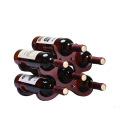 10 diseños Sostenedor natural de madera decorativo de la botella de vino