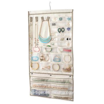 Sobre a porta Grande vestido pendurado organizador de jóias