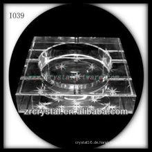 K9 3D Laserbild im Kristallaschenbecher