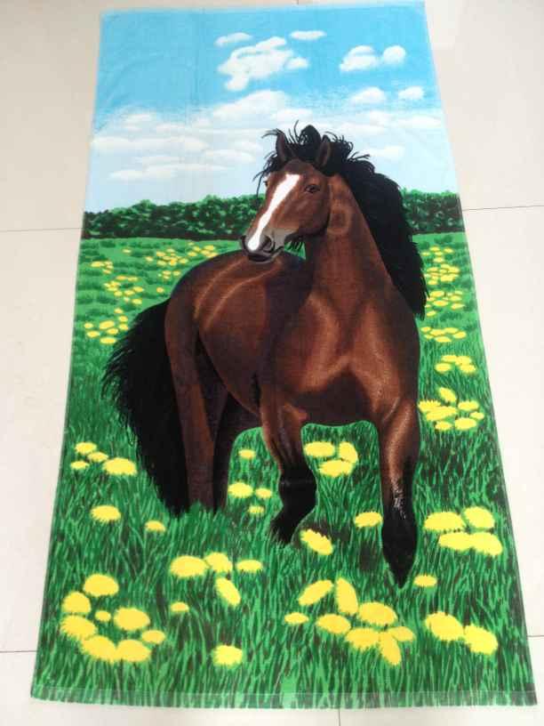 100%cotton printed velour terry  beach towel