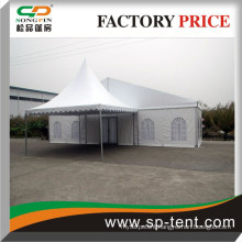 15x50m Luxury All events party marquee decorated linings and curtains with 6x6m pagoda canopy