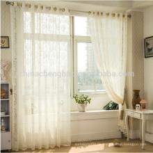 Hausdekor Leinen schal drapieren Voile Vorhang reine Farbe