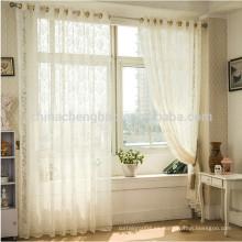 Decoración para el hogar cortina de lino cortina de voile color puro