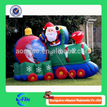 Père Noël gonflable en plein air à la mode à la mode, père gonflable, homme et voiture gonflables