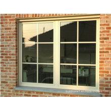 Polyester Blanc Powder Coat French Aluminium Portes et fenêtres