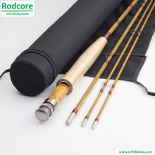 7ft6in 4wt Mão Feito Splitted Tonkin bambu Fly Rod