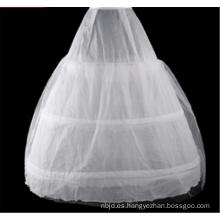 Traje nupcial de los aros de la alta calidad del vestido de bola de la crinolina del cordón