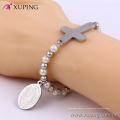 bracelet-47 Xuping Virgin Mary design + bracelet en perles de perles